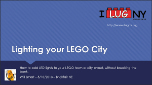 Lighting your LEGO City