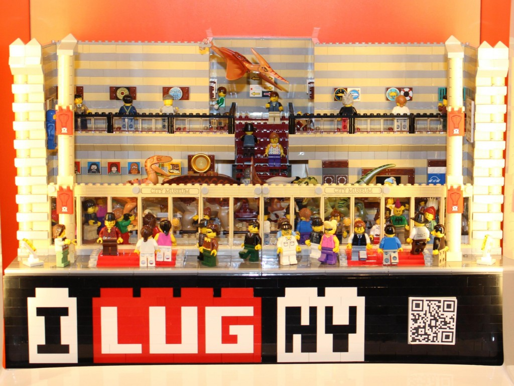 LEGO City Museum at Queens LEGO Store-January 2014